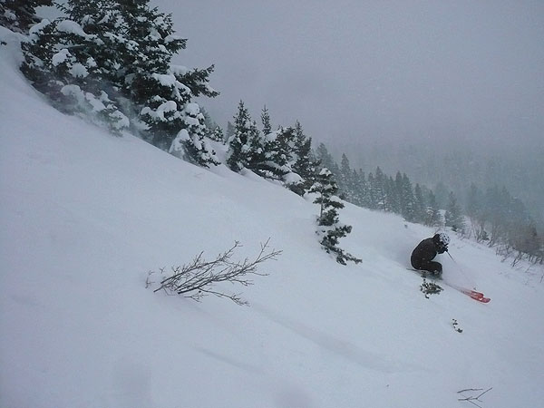Shawn Stinson getting more pow at Snowbasin