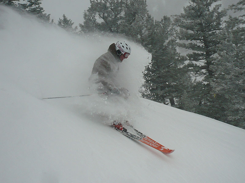 Shawn Stinson getting the full effect at Snowbasin